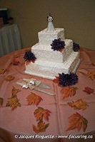 Julie and Malcolm Wedding Reception Cake