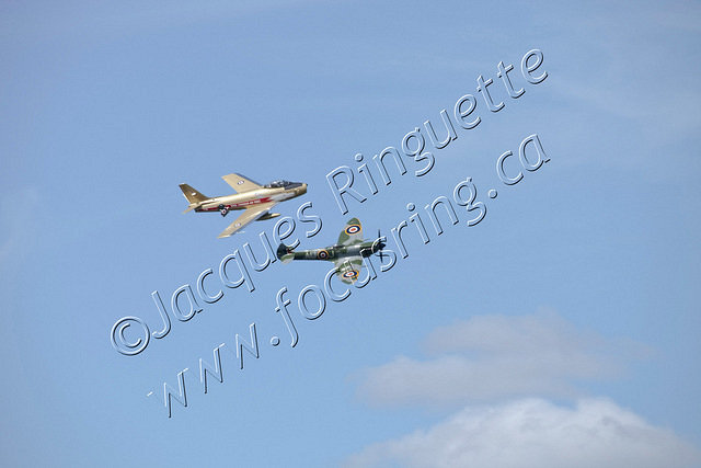 F-86 Sabre and Spitfire XVI-2